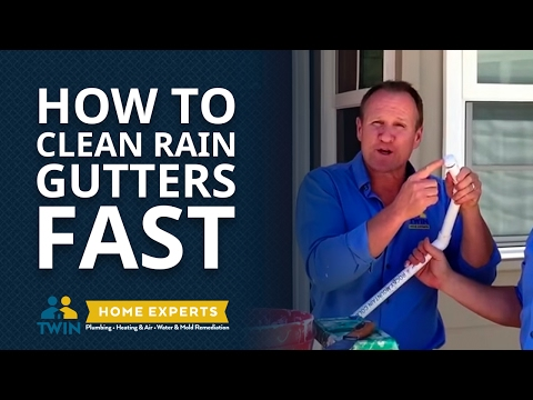 How To Clean Rain Gutters Fast! (From The Ground)