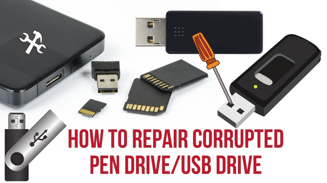 How To Repair Corrupted Pen Drive Usb Flash Transcend Flasdisk Toshiba 32 Gb