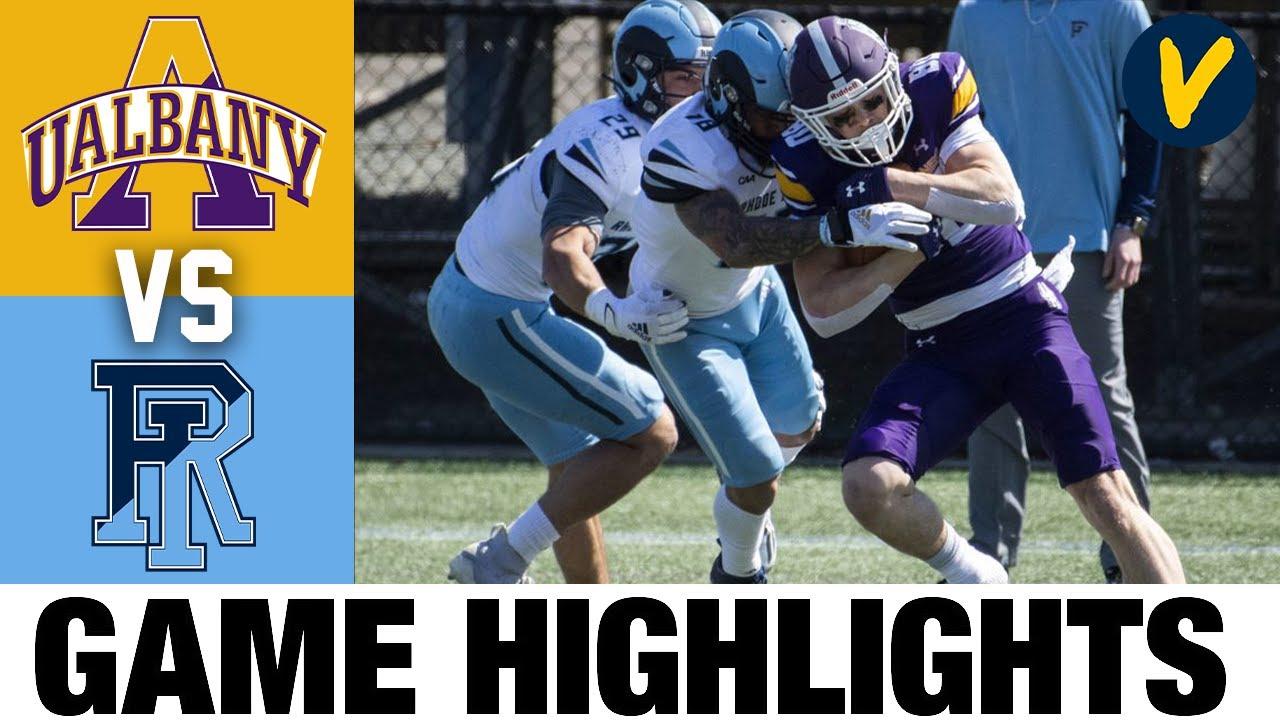 Rhode Island vs #18 Albany Highlights | FCS 2021 Spring College Football Highlights