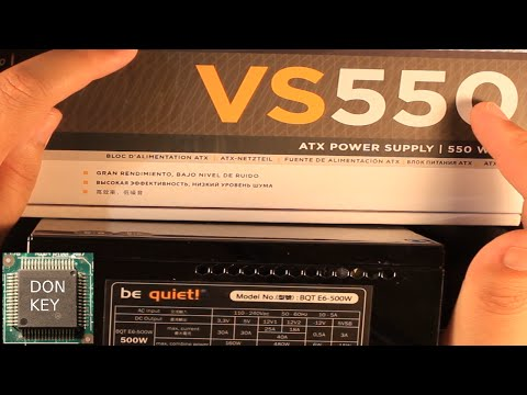 Corsair VS550 vs Be Quiet! 500W power supply side-by-side co