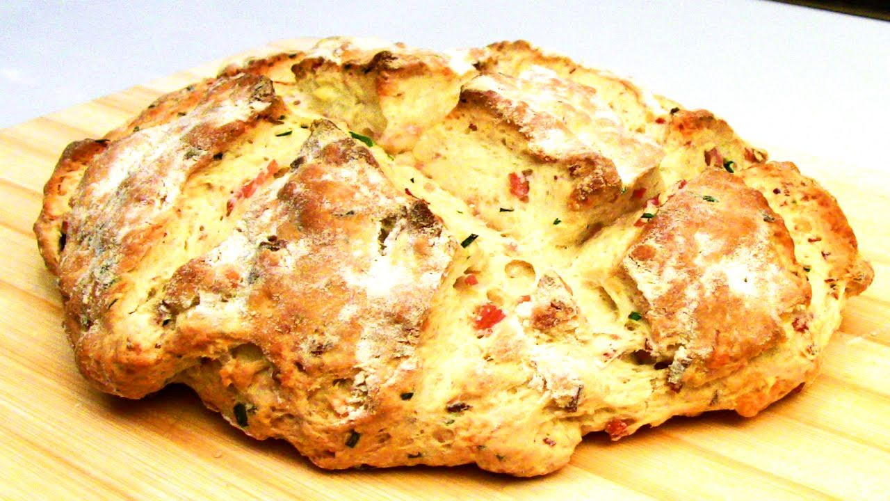 Cheese Bacon And Chives Damper Bread Recipe Youtube