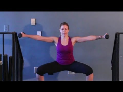 plie squats with lateral raises kettlebell exercises