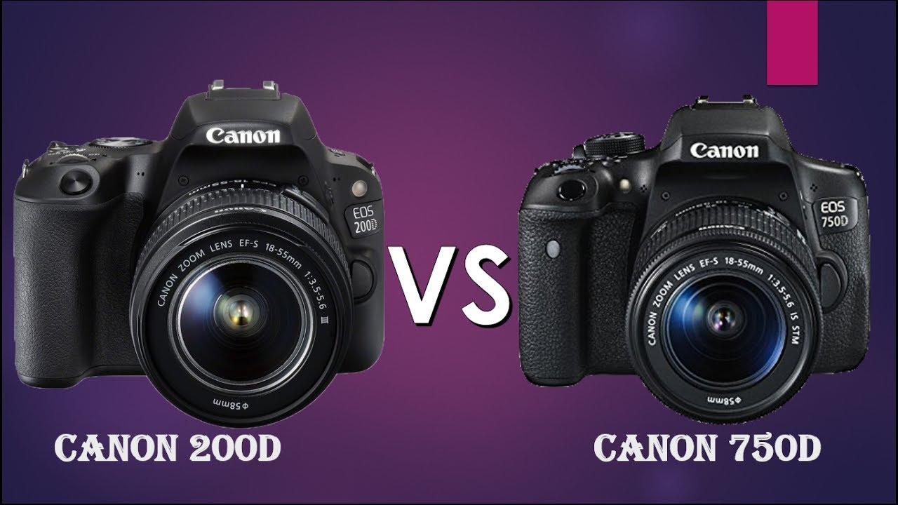 Canon 200D vs Canon 750D | Canon Rebel SL2 vs Canon Rebel T6i|