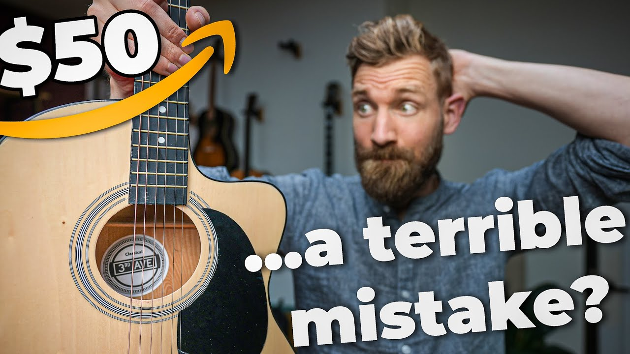 I bought the CHEAPEST GUITAR on AMAZON - A bargain or...