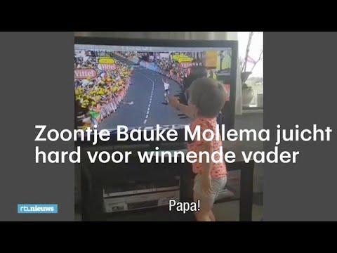 'Papa, ja!' Zoontje Mollema juicht voor winnende vader