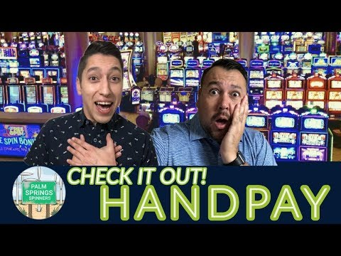 Our FIRST Jackpot HANDPAY on film EPIC Night HUGE WINS in Palm Springs