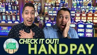 Our FIRST Jackpot HANDPAY on film!! EPIC Night HUGE WINS in Palm Springs!