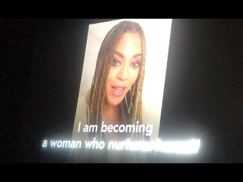 Beyonce & Oprah during Michelle Obama: I Am Becoming Intro