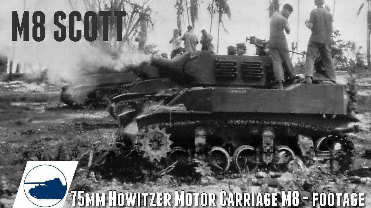 Download WW2 Rare M8 Scott USMC - Post war Vietnam Footage.