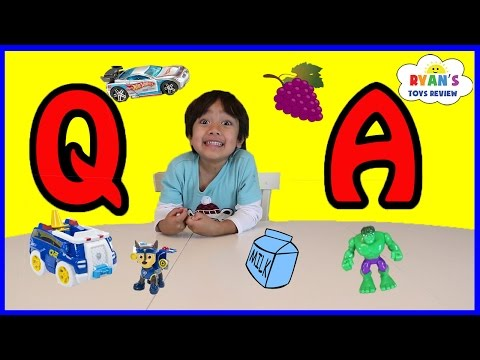 Ryan ToysReview Q&A! Favorite Kids Toys! Paw Patrol Hot Wheels Superhero Play Doh