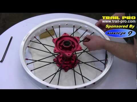 How To Lace and True a Dirt Bike or Motorcycle Rim / Wheel Part 1