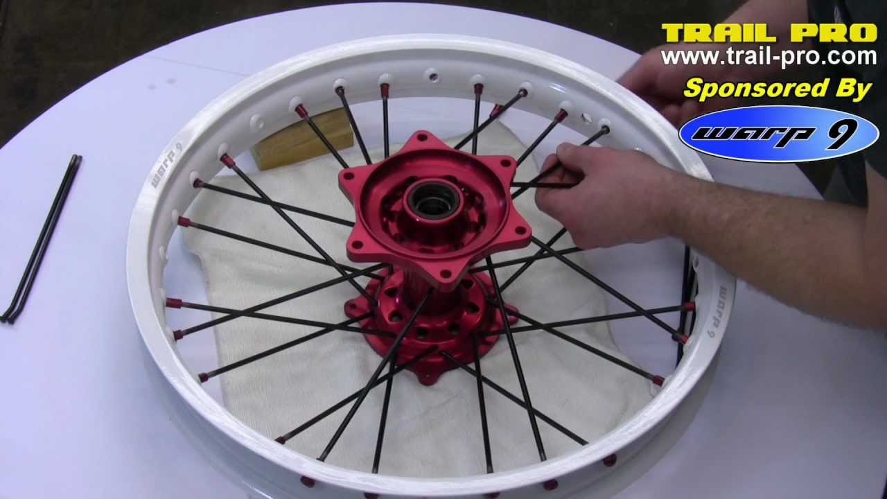 How To Lace And True A Dirt Bike Or Motorcycle Rim Wheel Part 1