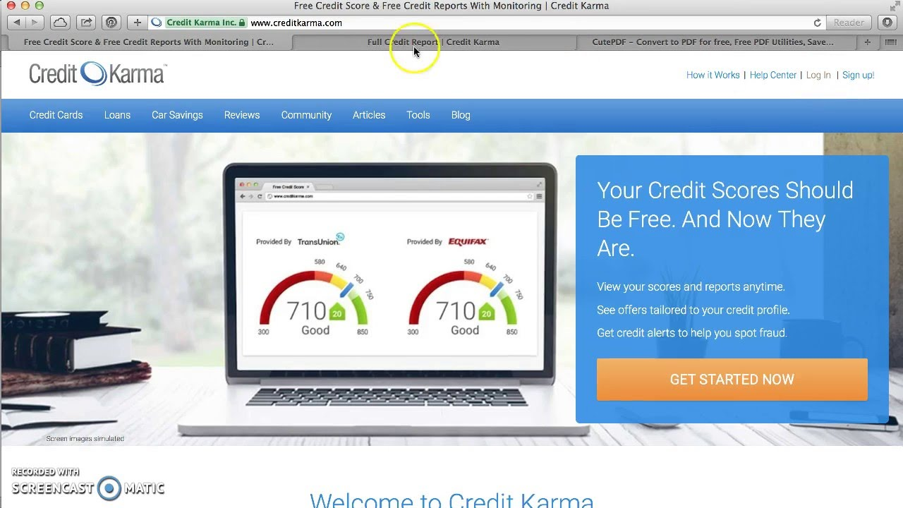how to print download free credit report from credit karma youtube