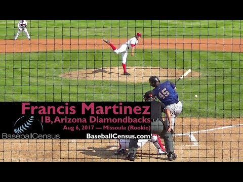Francis Martinez, 1B, Arizona Diamondbacks — August 6, 2017