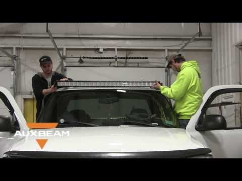 How To Install a Roof Mount 50 inch Light Bar on a 2004 GMC Sierra  - Auxbeam
