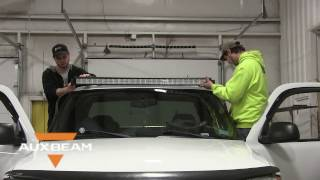 how to install a roof mount 50 inch light bar on a 2004 gmc sierra auxbeam