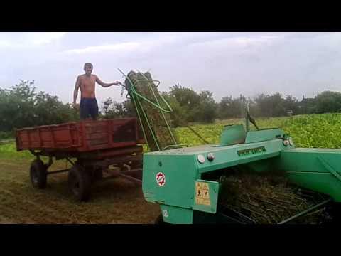 МТЗ 82 с роторной косилкой на заготовке сена 2017 - YouTube