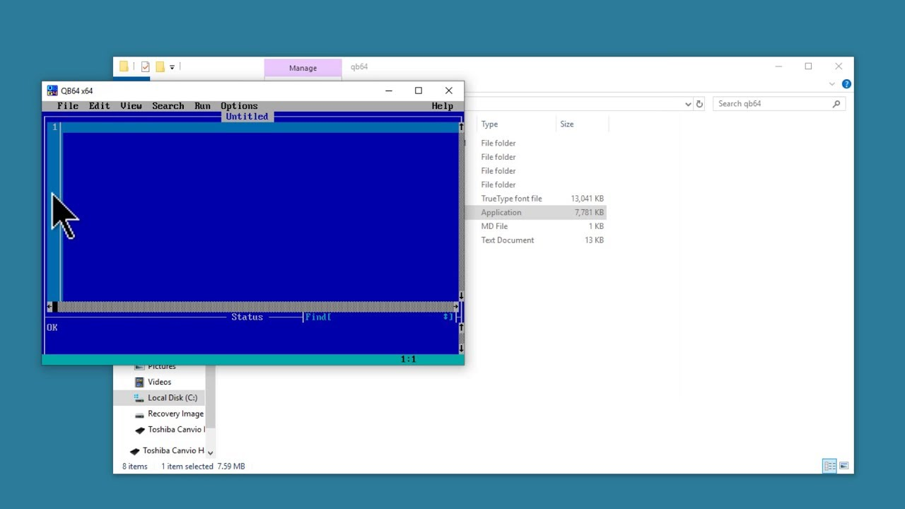 Install QB64 1 3 & QBasic 1 1 On Windows 10 Tutorial | Free Download