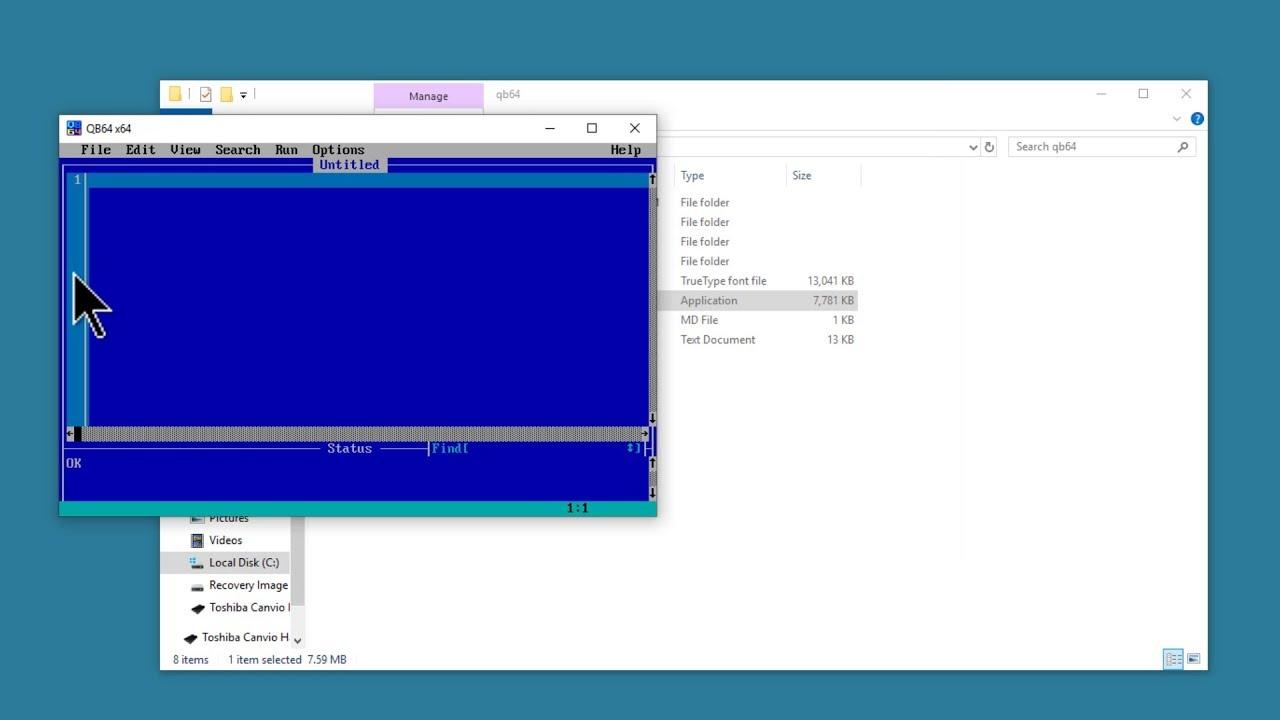 Install QB64 1.3 & QBasic 1.1 On Windows 10 Tutorial ...