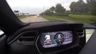 Tesla Model S P85D Autopilot Demo Release 6.1