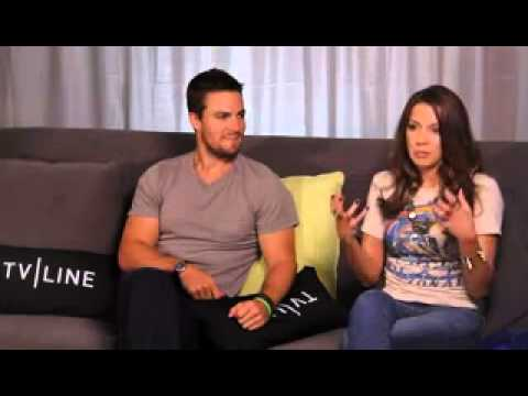 Interview - Stephen Amell & Katie Cassidy with TVLine (2012)