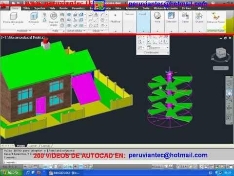 200 videos autocad 2012 2d y 3d aprenda en casa 209 for Casas en 2d
