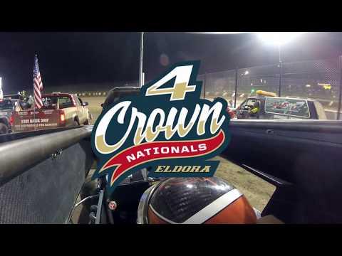 #1 Karsyn Elledge - USAC Midget - Eldora Speedway 9-28-19 - Heat & Feature - In-Car Camera GoPro