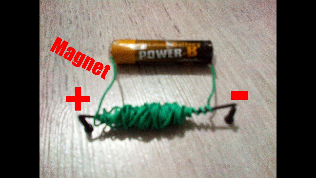 How to make a battery-powered Magnets !! ''Simple Electric ...