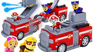 Фото Paw Patrol Chase And Marshall Split-second Vehicle Transform  Dudupoptoy