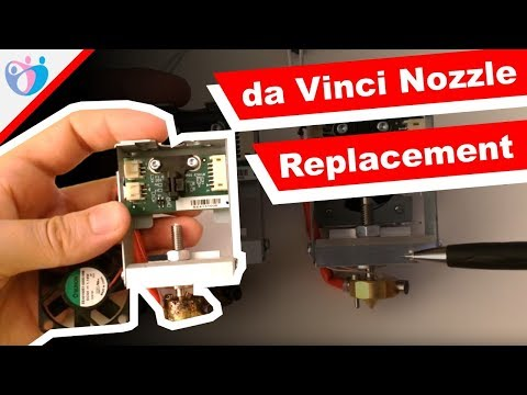How to replace nozzle/extruder on da Vinci 1 0 3D Printer - YouTube