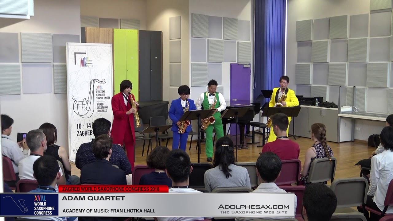 Ryukyu Fantasy by Yasuhide Ito   Adam Quartet   XVIII World Sax Congress 2018 #adolphesax