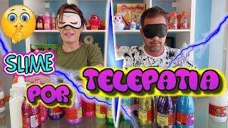SLIME POR TELEPATIA !! Papi VS Mami !! 3 COLORS twin telepathy slime CHALLENGE !!