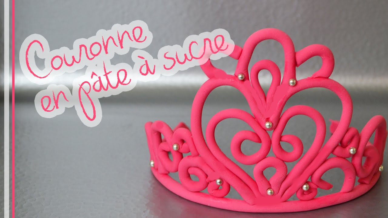 Comment faire une couronne en p te sucre fondant crown youtube - Faire une couronne ...