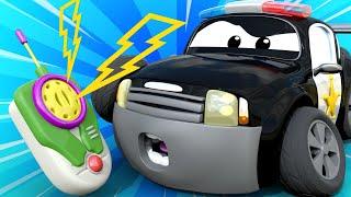 đội xe tuần tra - Cắt điện - Thành phố xe 🚗 những bộ phim hoạt hình về xe tải