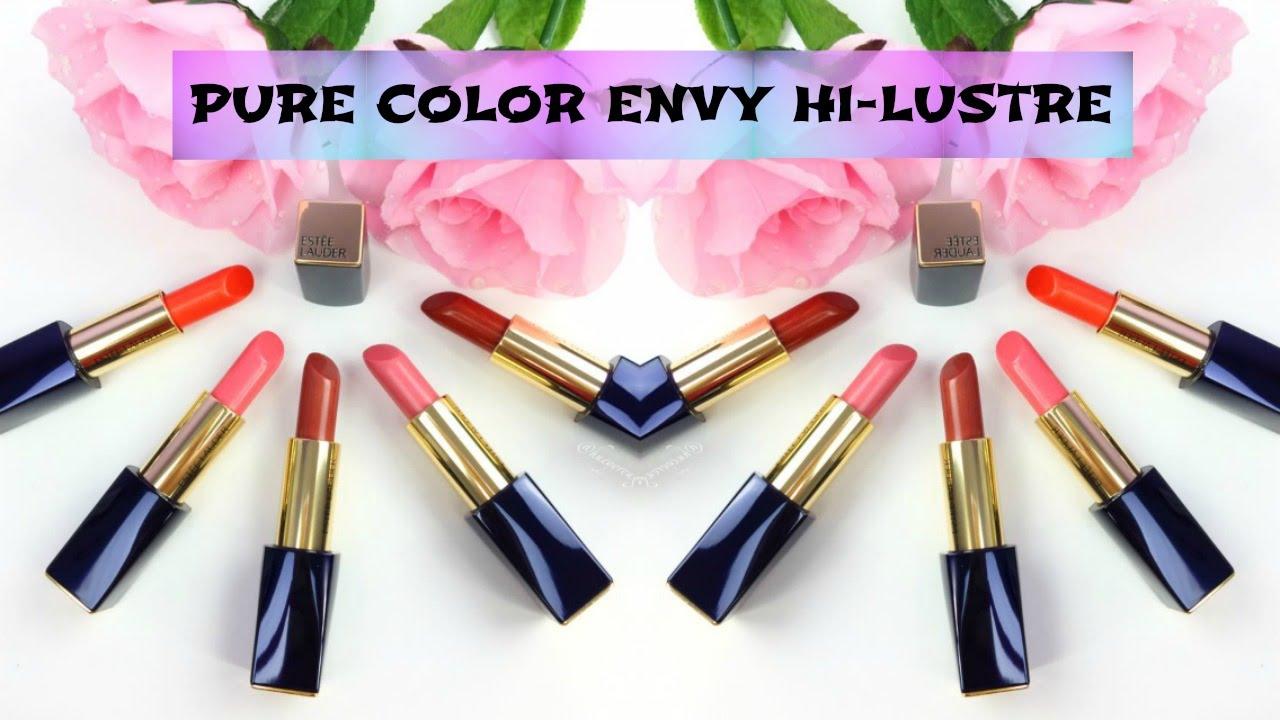 este lauder pure color envy hi lustre first impression hueyyrouge - Lustre Color