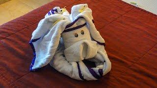 Beautiful pieces of towels Красивые фигуры из полотенца YouTubeFotoVideo