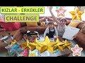 KIZLAR ERKEKLER CHALLENGE ZORLU 8 GÖREV LERA VE ELİF İLE YARIŞIYORUZ. Eğlenceli Çocuk Videosu