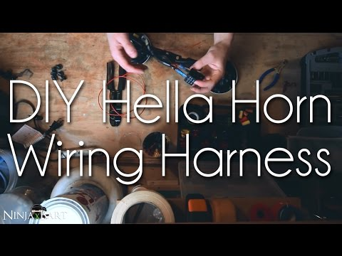 Building my own Hella Horn Wiring Harness (Not a DIY) - YouTube
