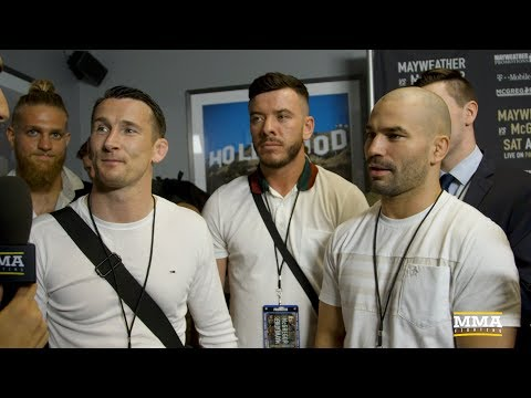 Thumbnail: Artem Lobov, Owen Roddy Were 'Ready to Go' During First Mayweather-McGregor Staredown