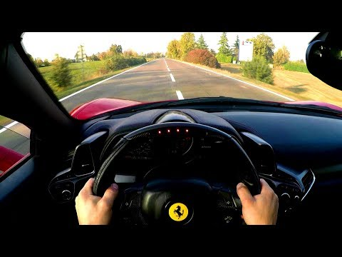 Brutally Fast Ferrari 458 Test Drive Maranello, Italy - POV - GoPro
