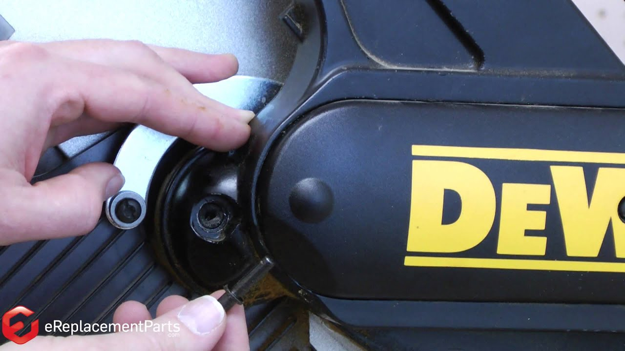 How to replace the blade locking pin on a dewalt dw708 miter saw how to replace the blade locking pin on a dewalt dw708 miter saw a quick fix youtube greentooth Images