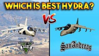 GTA 5 HYDRA VS GTA SAN ANDREAS HYDRA : WHICH IS BEST?