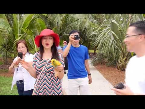 Family Tour Tropical Fruits Farm in Florida