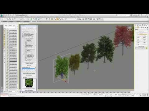Using 3ds Max Design With Civil 3D - Part 22 - Adding Trees
