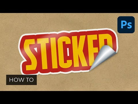 How to Create a Peeling Sticker Text Effect in Photoshop