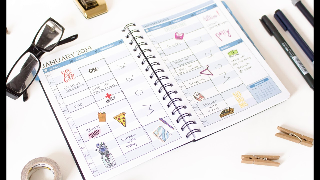 image relating to Daily Planners titled bloom each day planners® 2019 Tough Protect Calendar 12 months Timed Planner
