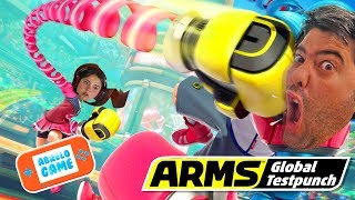Jugamos a Arms en Español de Nintendo Switch Padre VS Hija ? Abrelo Game