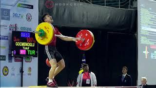 Yusuf Gocmenoglu 56 100kg 105kg Amp 107kg Snatches 2016 Youth Worlds