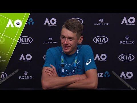 Alex De Minaur Press Conference (1R)   Australian Open 2017