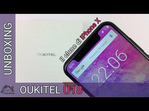 Oukitel U18 - Unboxing In Italiano - Il Clone Di IPhone X Android